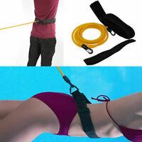 Corde élastique réglable de ceinture de résistance de natation Laisse sécurité