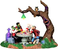 Retired CREEPS PLAYING POKER Table Accent #14332, NEW Lemax Spooky, Halloween