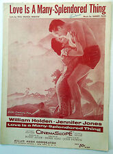 Film Sheet Music LOVE IS A MANY SPLENDORED THING Willam HOLDEN Miller Publ. w