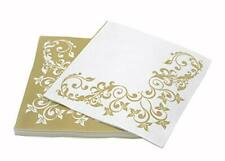 Simulinen Disposable Dinner Napkins - Decorative, Fancy Gold - Cloth Like -