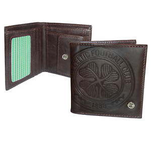 Celtic FC Wallet Faux Leather Luxury Brown OFFICIAL Football Gift