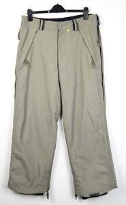 BONFIRE Men's M 10K Fusion Ski Pants Snowboard Trousers Soft Shell Grey Khaki