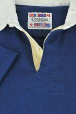 Crossbar Rugby Wear Men's Navy & White Collar Heavy Cotton Poly Shirt XL XLarge