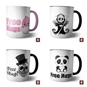 Mug 'Free Hugs' Panda Hug Devil Skull Skull Head Poker Love Friend