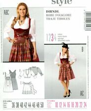 Uncut Sewing Pattern Ladies Corset Dress Blouse Apron Size 10-24