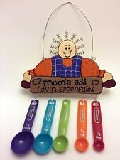 Handcrafted Kitchen Country Decor Wooden Measuring Spoon Rack Mom's Lovin Spoons