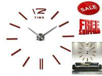 sale wall clock watch clocks 3d diy acrylic mirror stickers Living Room Quartz