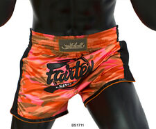 Fairtex Boxing Bs1711 Orange Shorts Slim Cut Satin Genuine Mma K1 Muay Thai