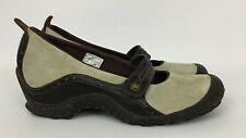 Women's Merrell Plaza Bandeau Dark Taupe Wedge Heel Mary Jane Shoes Size 8
