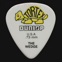 Dunlop Tortex Wedge Guitar Picks Plectrums 0.73mm Yellow - 6 10 12 20 24 or 36