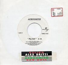 AEROSMITH ALEX BRITTI disco JUKE BOX PROMO 45 giri NP MADE in ITALY