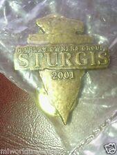 Sturgis 2001 Harley Davidson Vest Tack/Pin NIP Goldtone