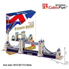New Tower Bridge London UK 3D Model Jigsaw Puzzle 120 Pieces MC066H