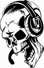 Skull Totenkopf Schädel DJ Musik Monster Tod Wandtattoo Aufkleber AN1644