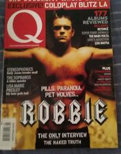 Q UK Magazine #205 Robbie Williams The Sopranos Evanescence Johnny Cash Music