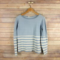 KAIN Label Women's Long Sleeve Cotton Blouse Top XS Extra Small Blue Striped