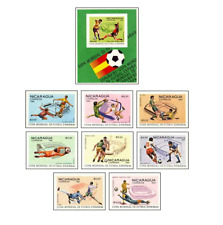 NIC8102 Football block and 8 stamps