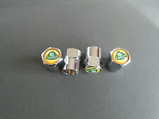 LOTUS CHROME DUST CAPS TYRE VALVE CAPS