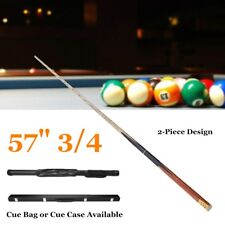 57'' 3/4 2-Piece Wood Jointed Pool Cue Stick Snooker Billiard Game Sport Ba