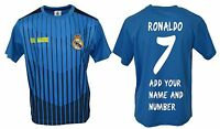 Real Madrid Soccer Jersey Youth Kids Training - Add Your Name & Number Ronaldo 7
