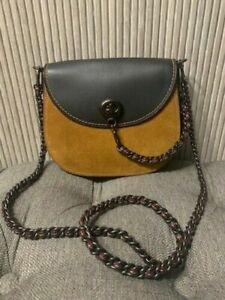 Authentic $495 COACH 10495 Genuine Glovetaned Leather Saddle Crossbody Bag