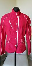 $890 MONTECORE red bikerbomber jacket windbreaker logo sz 46 or 10 US or M / L