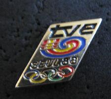 SEOUL 1988  Olympic Games TVE TV/Radio Spain Espana Media internal staff pin