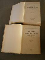 Archivio Storico Italiano, Indice 1842-1941 2Vol. Olschki Ed. 963 Pag. Anno 1945