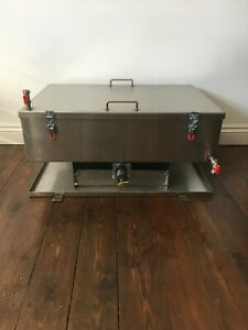 Stainless Steel Oven Cleaning Dip Tank - Ready to be Van Mounted with Drip Tray