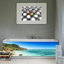 Bath Front Panel 1700mm x 520mm full colour print Tropical beach 2