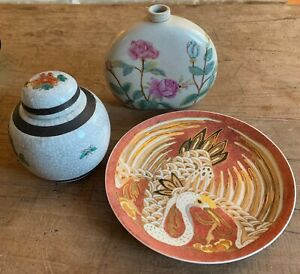 Collection of Handpainted Ceramics Oriental Marks