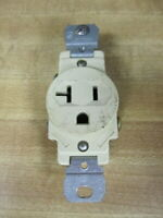 Leviton 5361 Single Industrial Receptacle Ivory