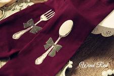 Kawaii Lolita Alice Fork and Spoon Velet Sock Pantyhose Tights 120D 5colors