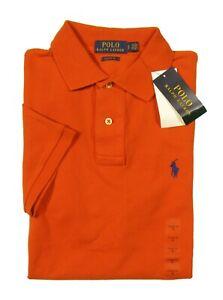 Polo Ralph Lauren Men's College Orange Classic Fit Mesh Short Sleeve Polo Shirt