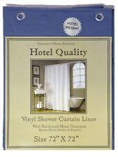 "Navy Blue Heavy Weight Hotel Quality 8-gauge Vinyl  Shower Liner: 72"" x 72"""
