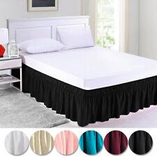 "Elastic Pleated Bed Skirt Dust Ruffle Bedding Bedspread w/15"" Drop Twin Set"