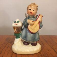 Vtg Napco Christmas Girl Choir Angel Guitar/Mandolin Figurine X-8371
