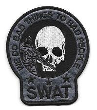 SWAT SNIPER DEATH SKULL POLICE PATCH (GRAY&BLACK)