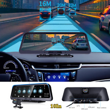 Android 8.1 10In Car Cam Dual Lens Dash Camera Driving Recorder GPS Navigation