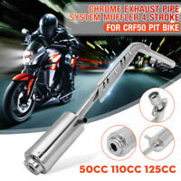 4 Stroke Muffler Exhaust Pipe System For CRF50 ATV DIRT PIT BIKE 50 110cc 125cc