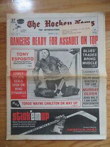 THE HOCKEY NEWS January 11, 1974 Newspaper TONY ESPOSITO Chicago Black Hawks