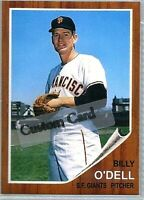 BILLY O'DELL SAN FRANCISCO GIANTS 1962 STYLE CUSTOM MADE BASEBALL CARD BLANK