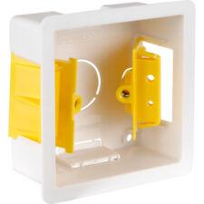 35mm Single 1 Gang Dry Lining Flush Pattress Back Box Plasterboard Cavity Wall