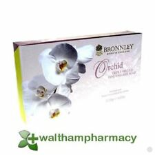 Bronnley Orchid English Soap 3X100G Moisturise Soften Sweet Almond Shea Butter