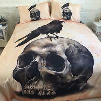 Skull Quilt Duvet Cover Set Twin Full Queen King Size Bedding Set Pillow Case