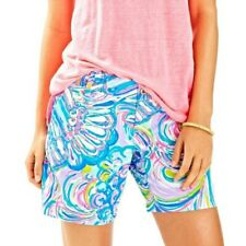 Lilly Pulitzer Shorts Womens Size 0 The Jayne Short Colorful Bermuda Blue Pink