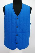 NWT Levi Strauss Levi's Snap Btn Commuter Vest Blue Quilted Puff Packable Large