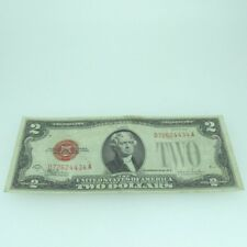 1928 F Red Seal United States Two Dollar Note 600393