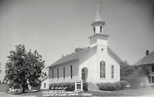 Lone Tree Iowa~Grace United Church of Christ~Houses~1950s Real Photo~RPPC