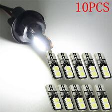 New 10X CANBUS ERROR FREE LED White T10 168 194 W5W Wedge 4 SMD 5050 Light bulb